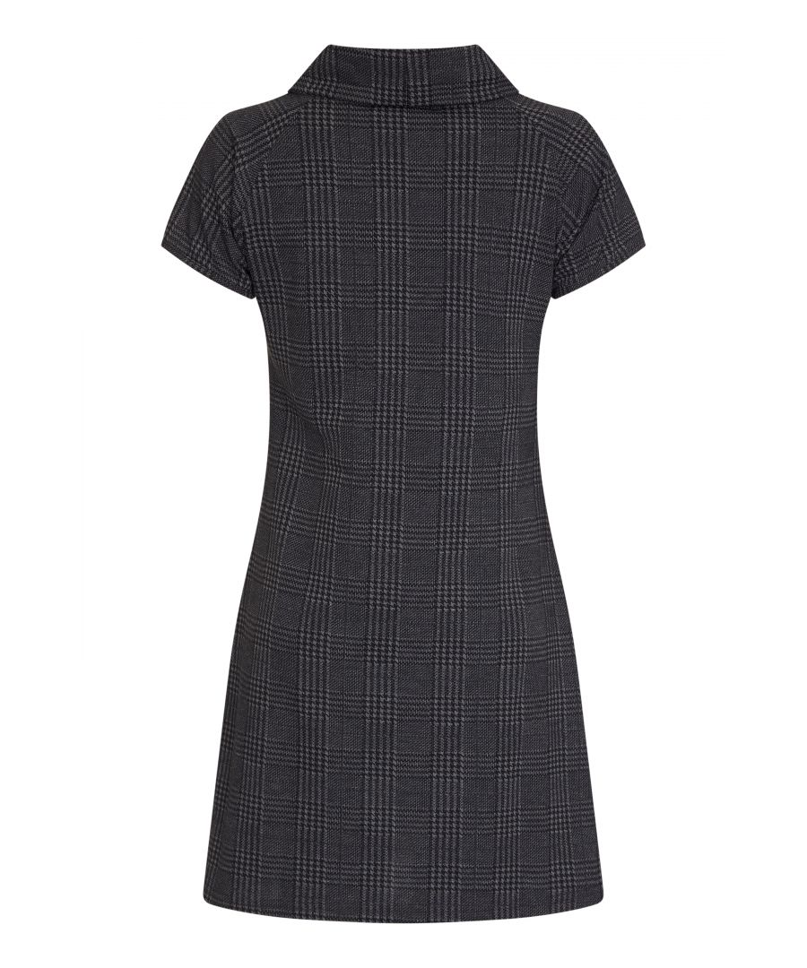 Image for Check Cowl Neck Zip Dress