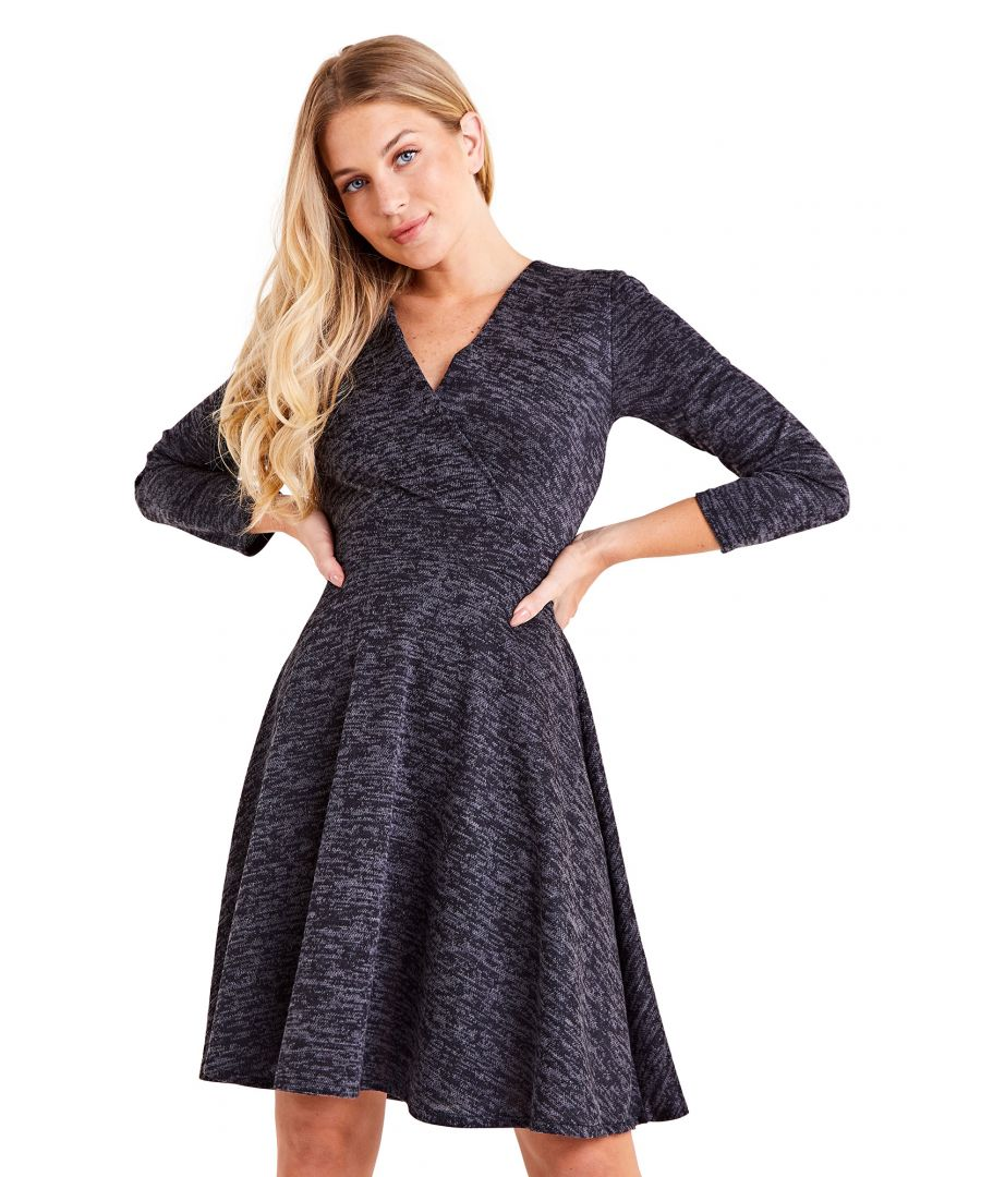 Image for Wrap Front A Line Dress