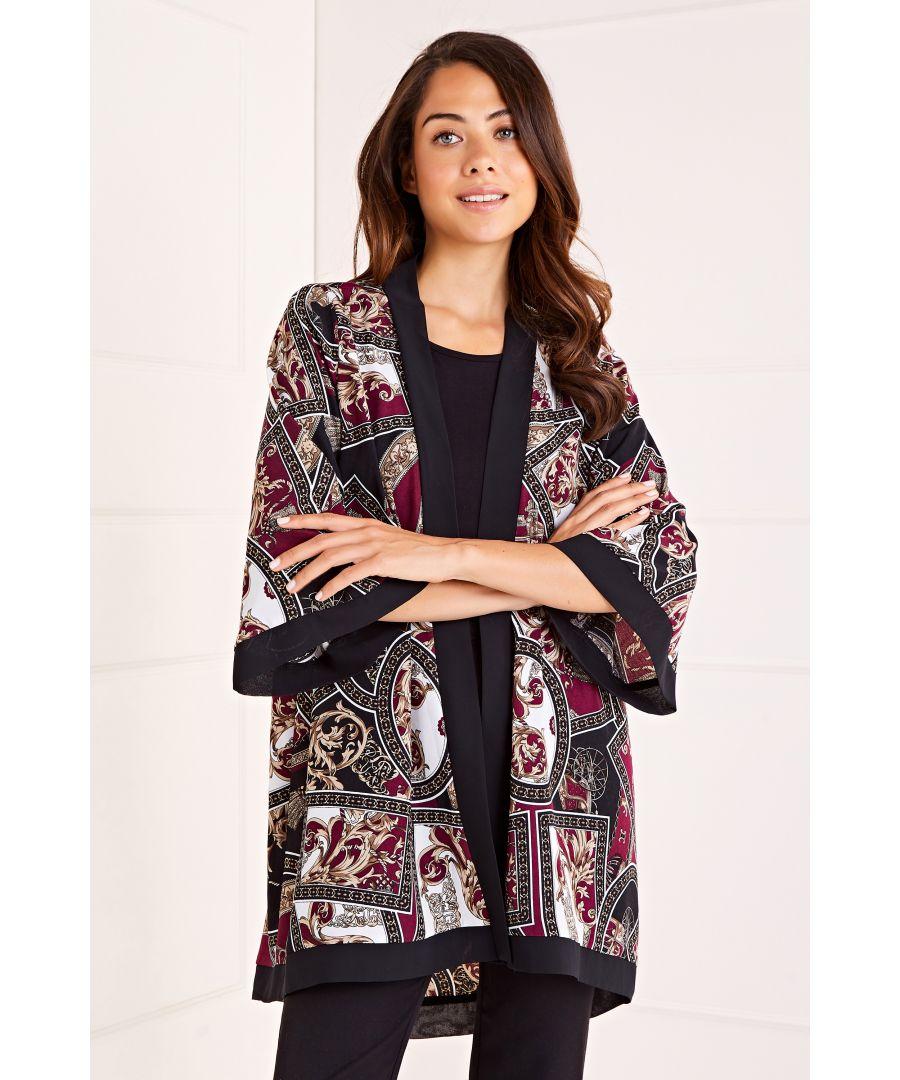 Image for Abstract Print Kimono