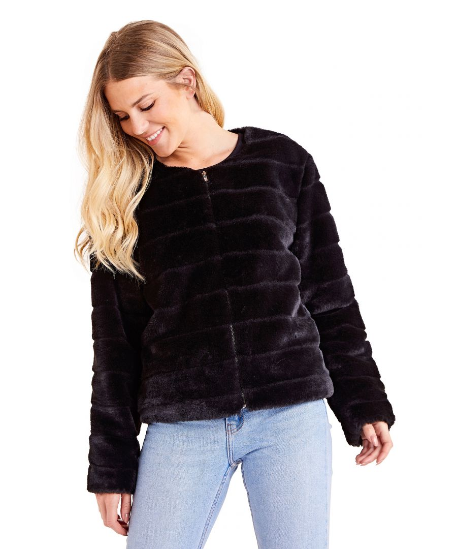 Image for Faux Fur Long Sleeve Chic Coat