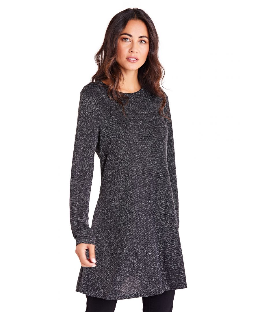 Image for Shimmer Long Sleeve Tunic Dress