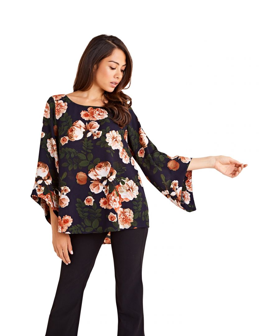 Image for Blossom Roses Print Long Sleeve Blouse