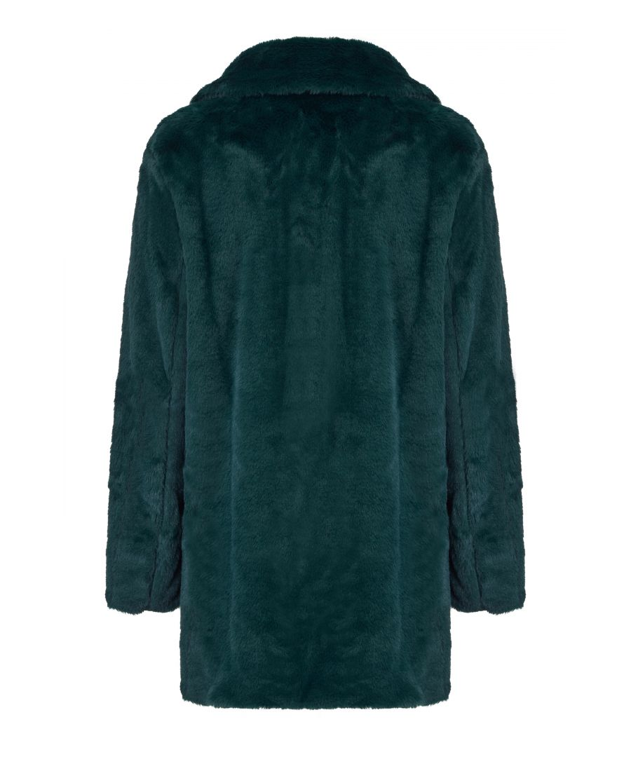Image for Double Breasted Faux Fur Jacket