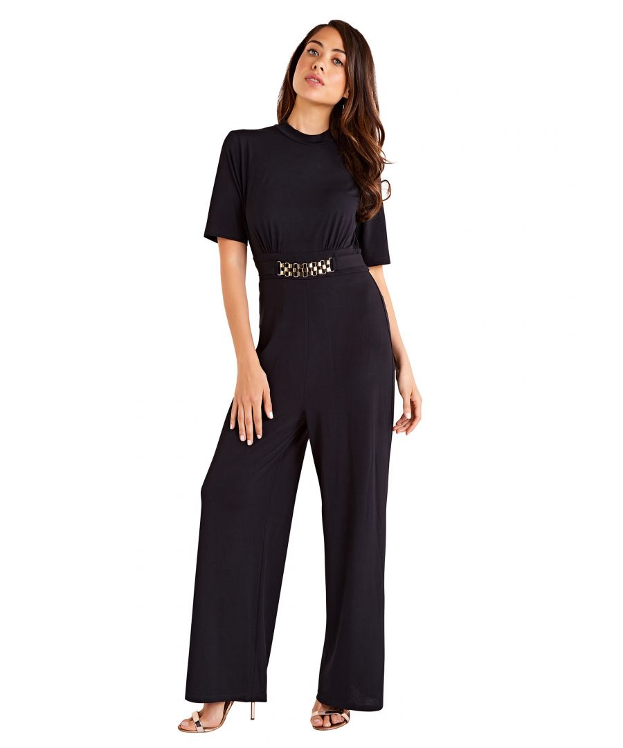 Image for Chain Detail High Neck Jumpsuit