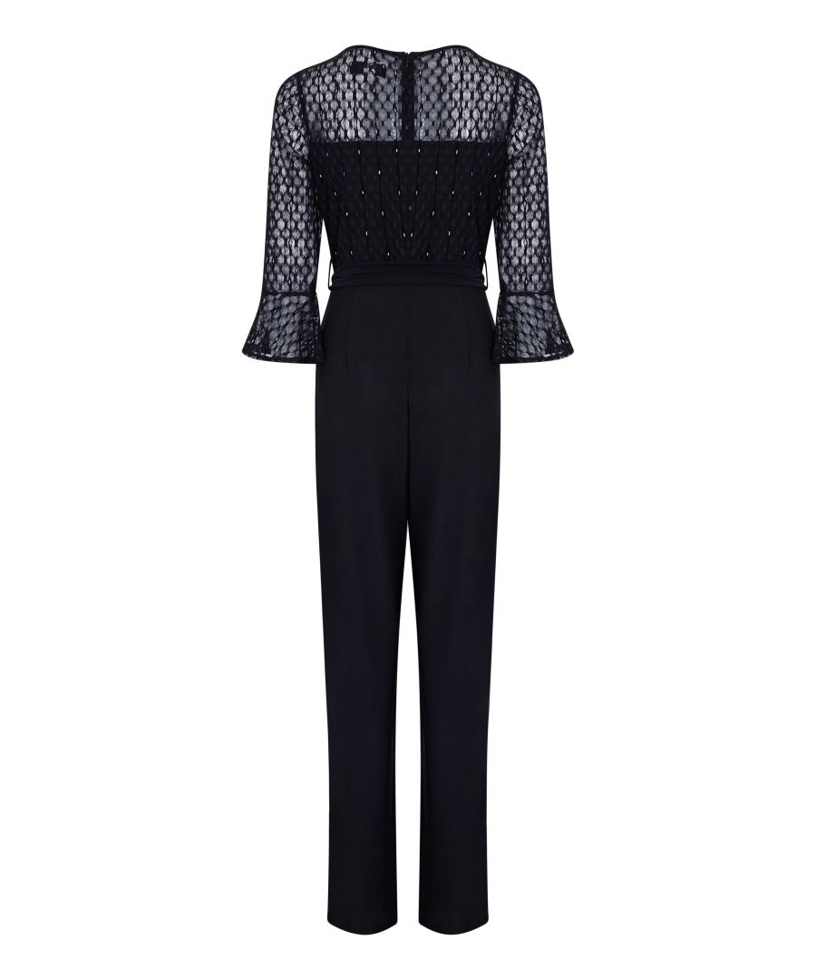 Image for Lace Top Fluted Sleeve Jumpsuit