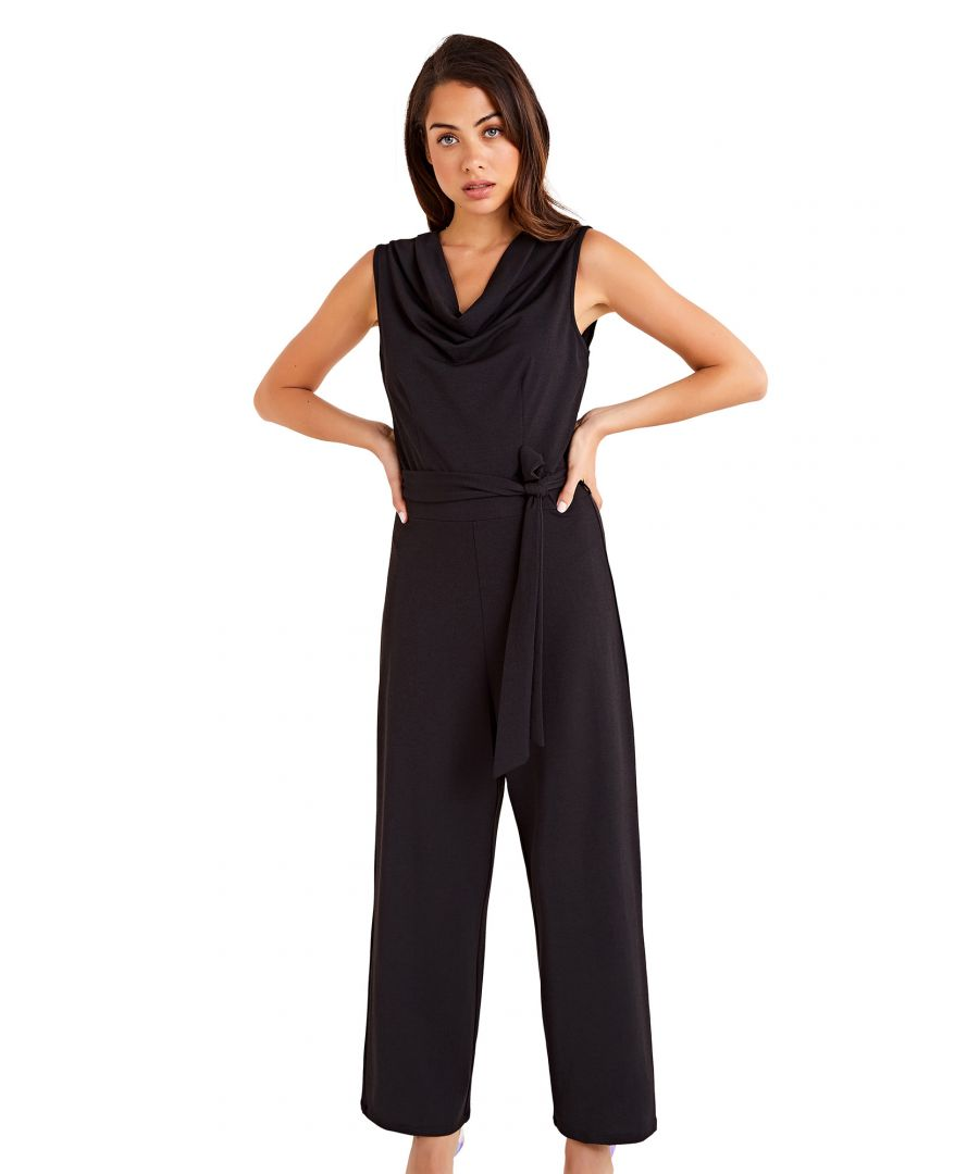 Image for Cowl Neck Sleeveless Jumpsuit