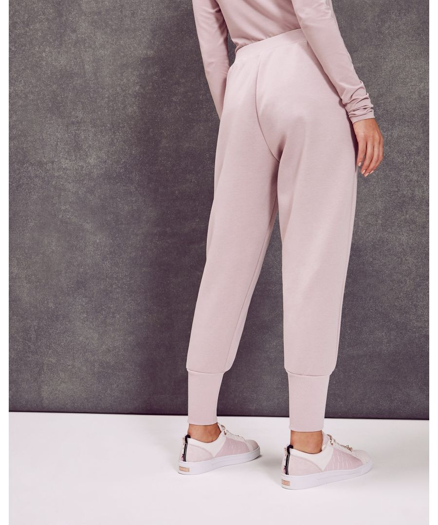 Image for Ted Baker Radonna Ribbed Cuff Jogger Trousers, Dusky Pink