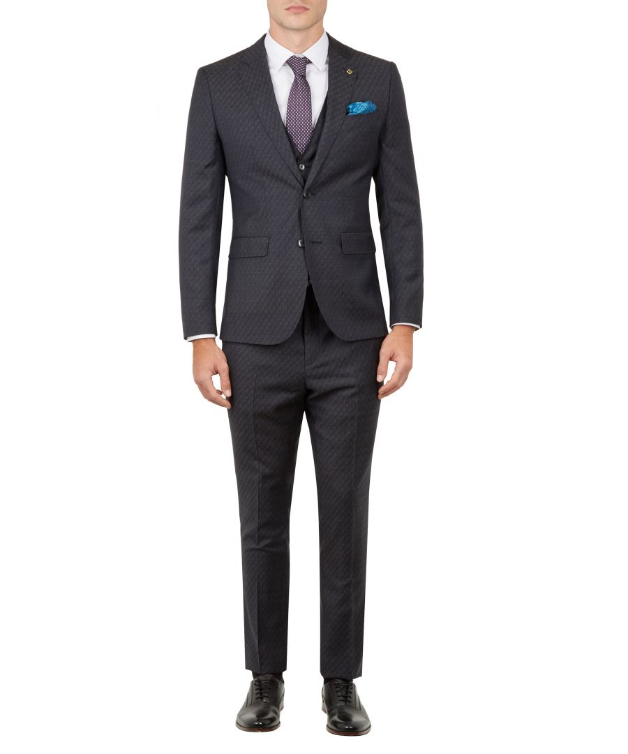 Image for Ted Baker Safrant Debonair Geo Fashion Fit Trousers, Blue