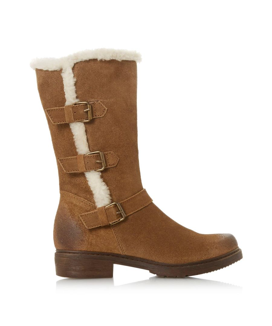 Image for Dune Ladies REACTIVE Fur Lined Buckle Calf Boots