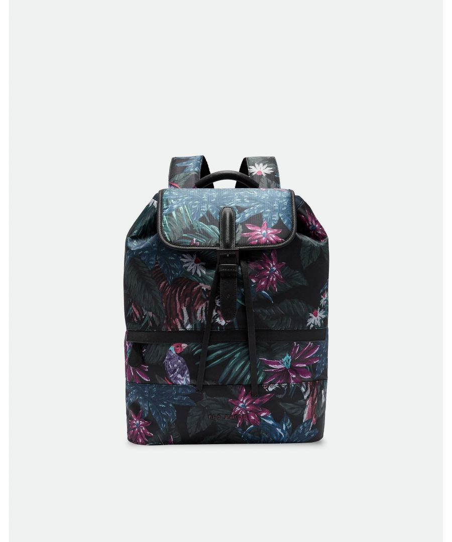 Image for Ted Baker Revving Printed Backpack, Black