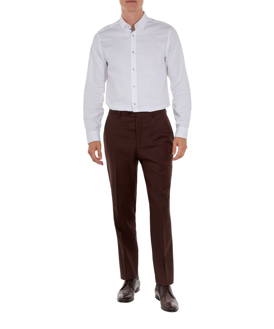 Image for Ted Baker Palacet Debonair Plain Twill, Dark Red