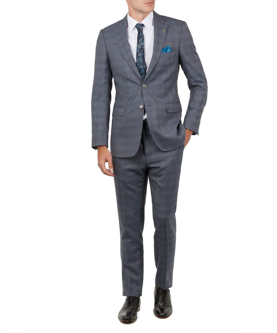 Image for Ted Baker Salooj Checked Suit Jacket, Grey