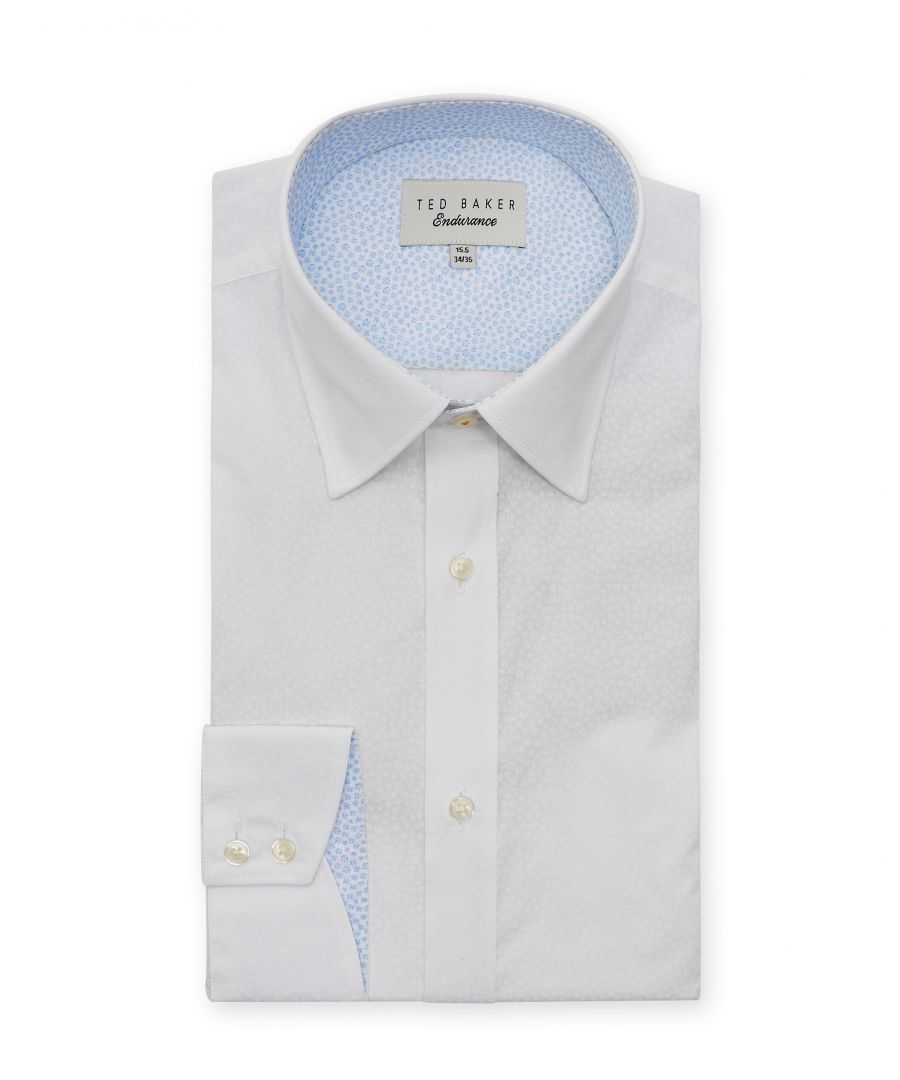 Image for Ted Baker Belugar Spot Print Endurance Shirt, White