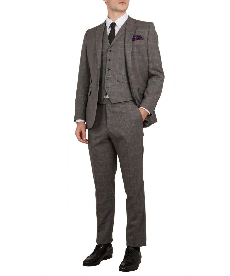 Image for Ted Baker Betrej Sterling Check Suit Jacket, Grey