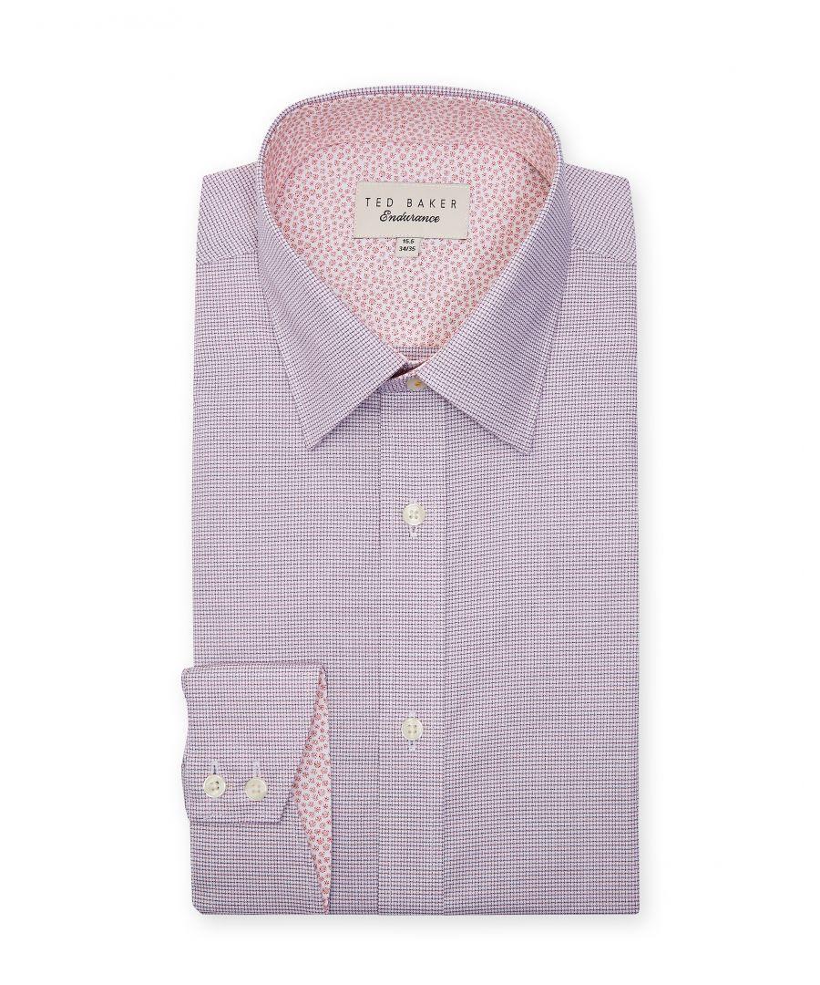 Image for Ted Baker Guppi Mini Check Endurance Shirt, Pink