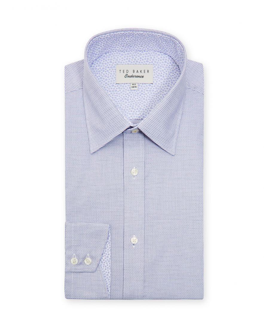 Image for Ted Baker Guppi Mini Check Endurance Shirt, Purple