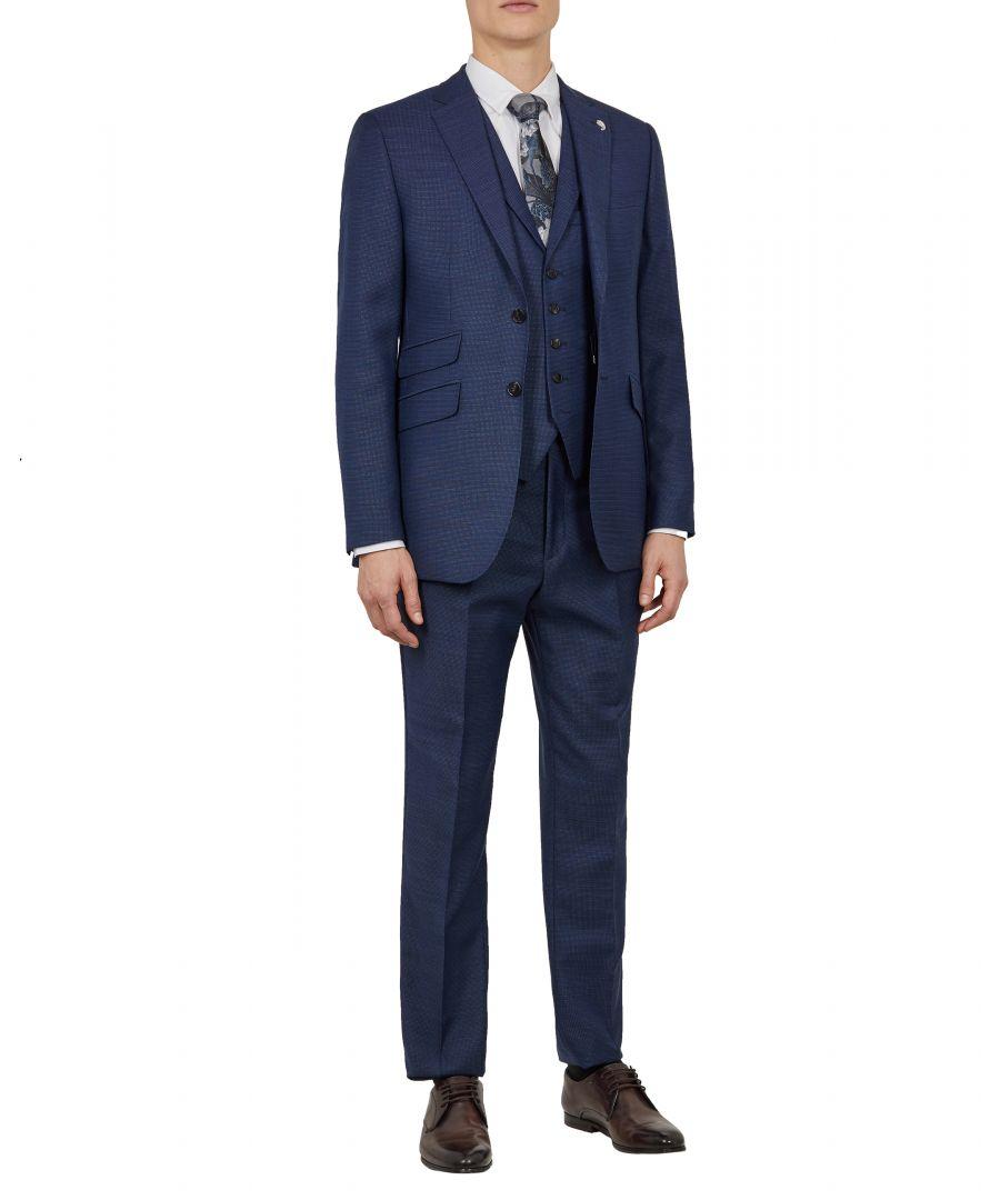 Image for Ted Baker Triogow Sterling Birdseye Waistcoat, Blue