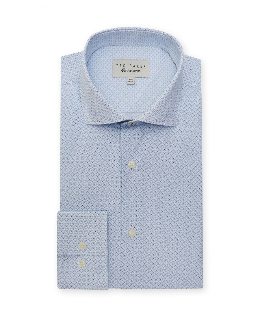 Image for Ted Baker Wobego Micro Geo Endurance Shirt, Blue