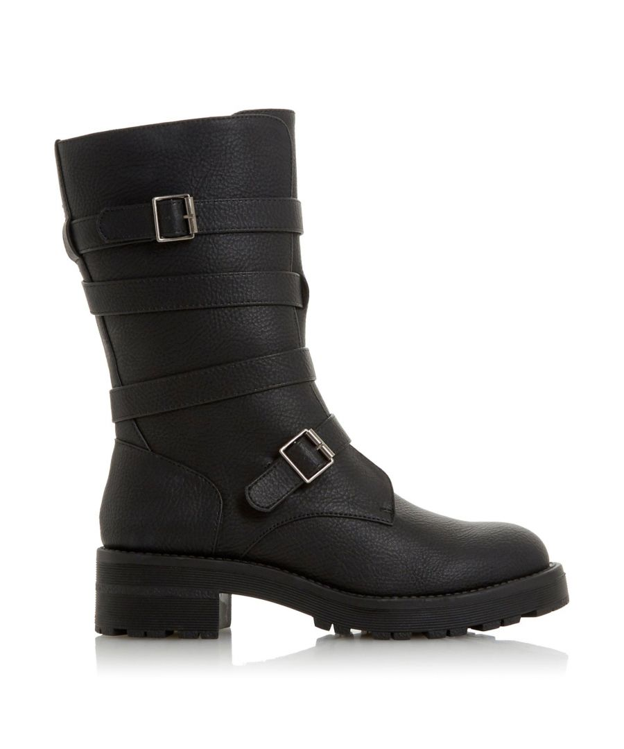 Image for Head Over Heels by Dune Ladies RHEETA Buckle Biker Boots