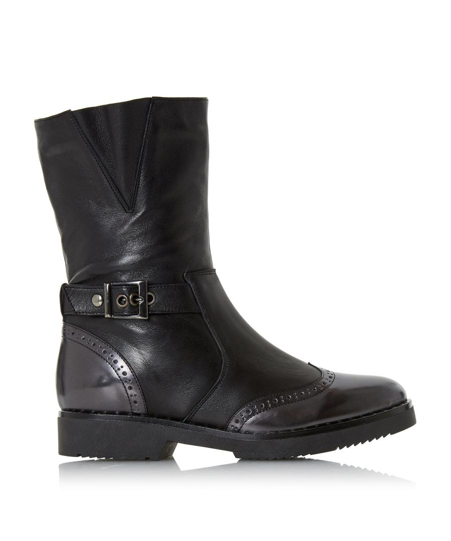 Image for Dune Ladies RILEIGH Buckle Detail Biker Boots