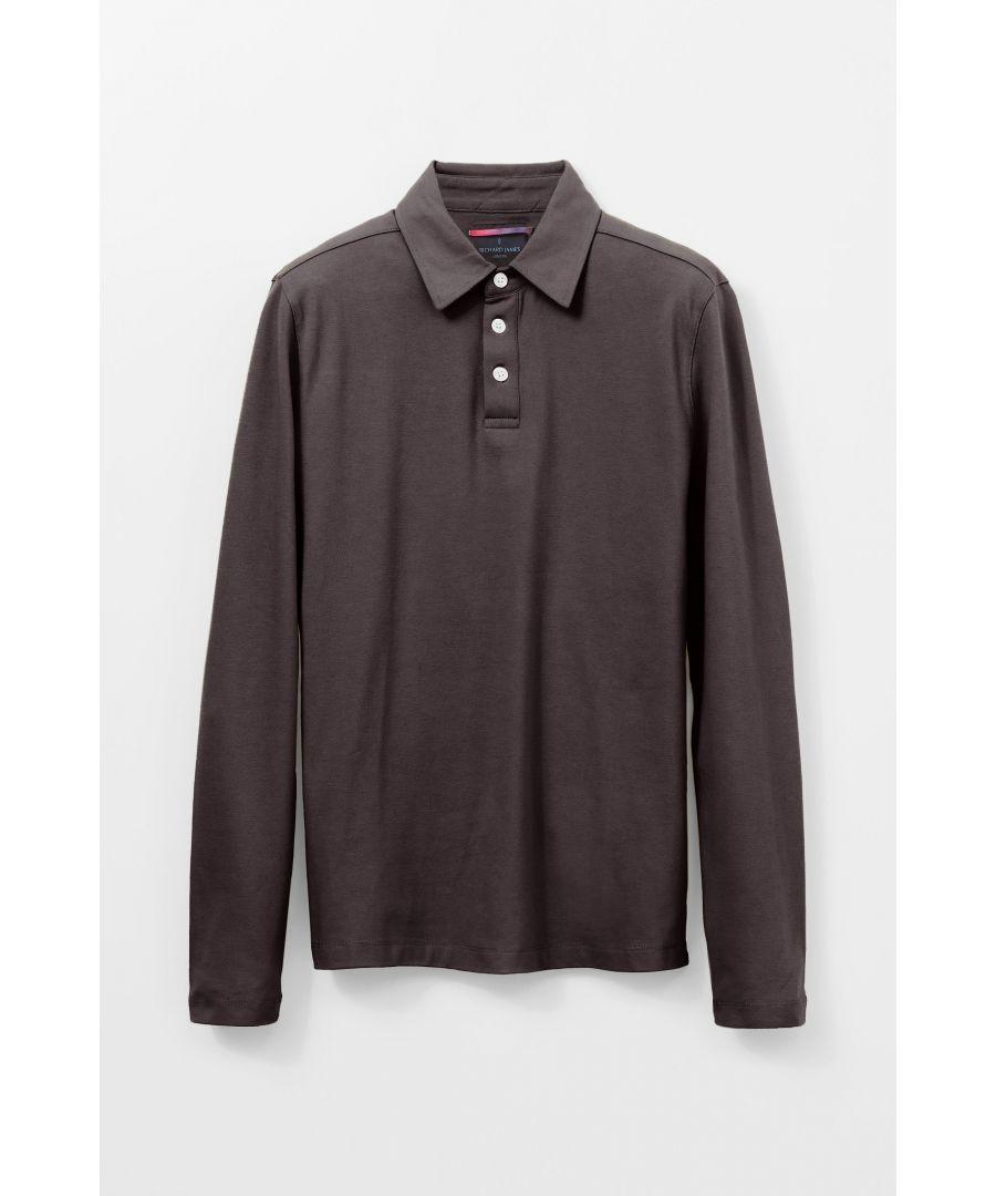 Image for Long Sleeve 3 Button Pique Polo