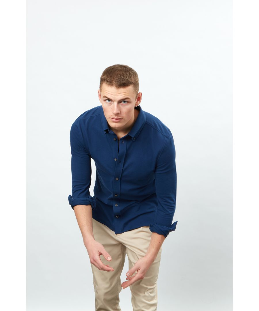 Image for Long Sleeve Pique button front