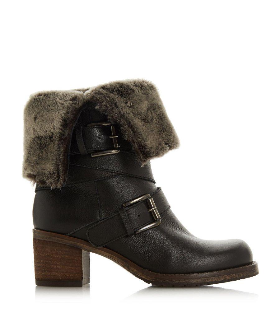Image for Dune Ladies ROKO Faux Fur Trim Calf Boots