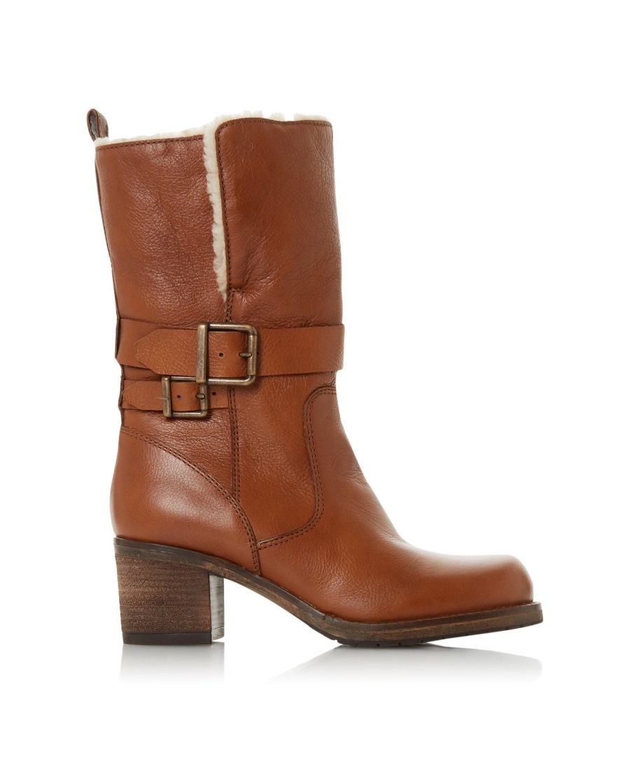 Image for Dune Ladies ROKOKO Borg Collar Calf Boots
