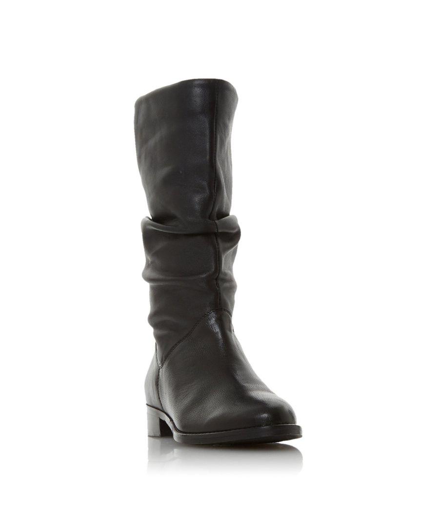Image for Dune Ladies ROSALINDA Ruched Calf Boot