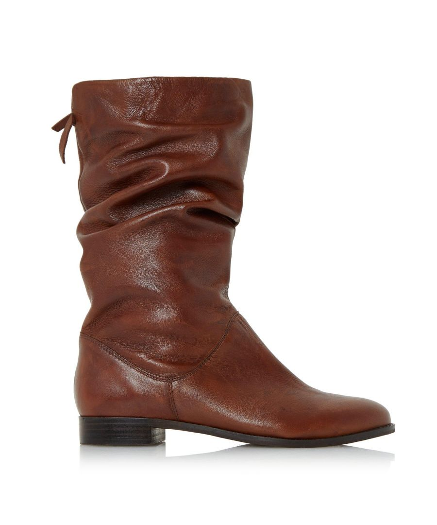 Image for Dune Ladies ROSALINDD Pull On Ruched Calf Boots