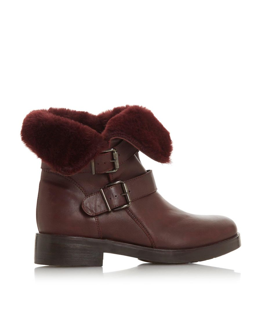 Image for Dune Ladies ROSEWOOD Double Buckle Calf Boots