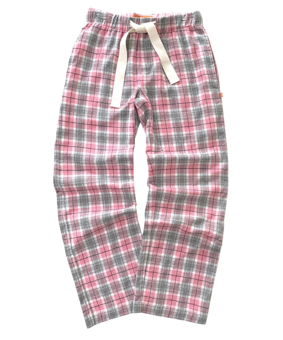 Image for Girls Pink Check Lounge Pants