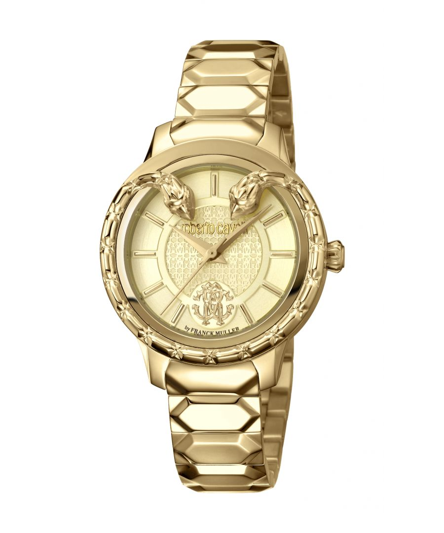 Image for Roberto Cavalli Women's Goldplated Stainless Steel Watch