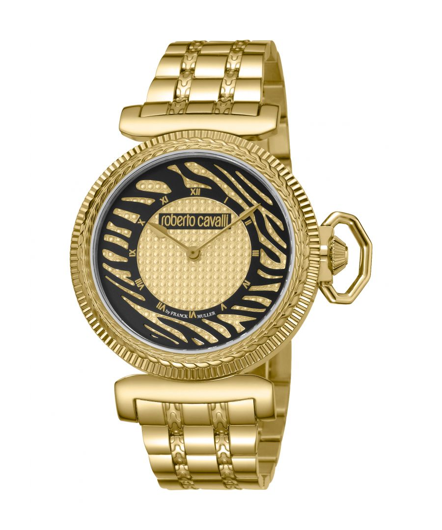 Image for Roberto Cavalli by Franck Muller Women's Champagne Dial Animal Print Watch