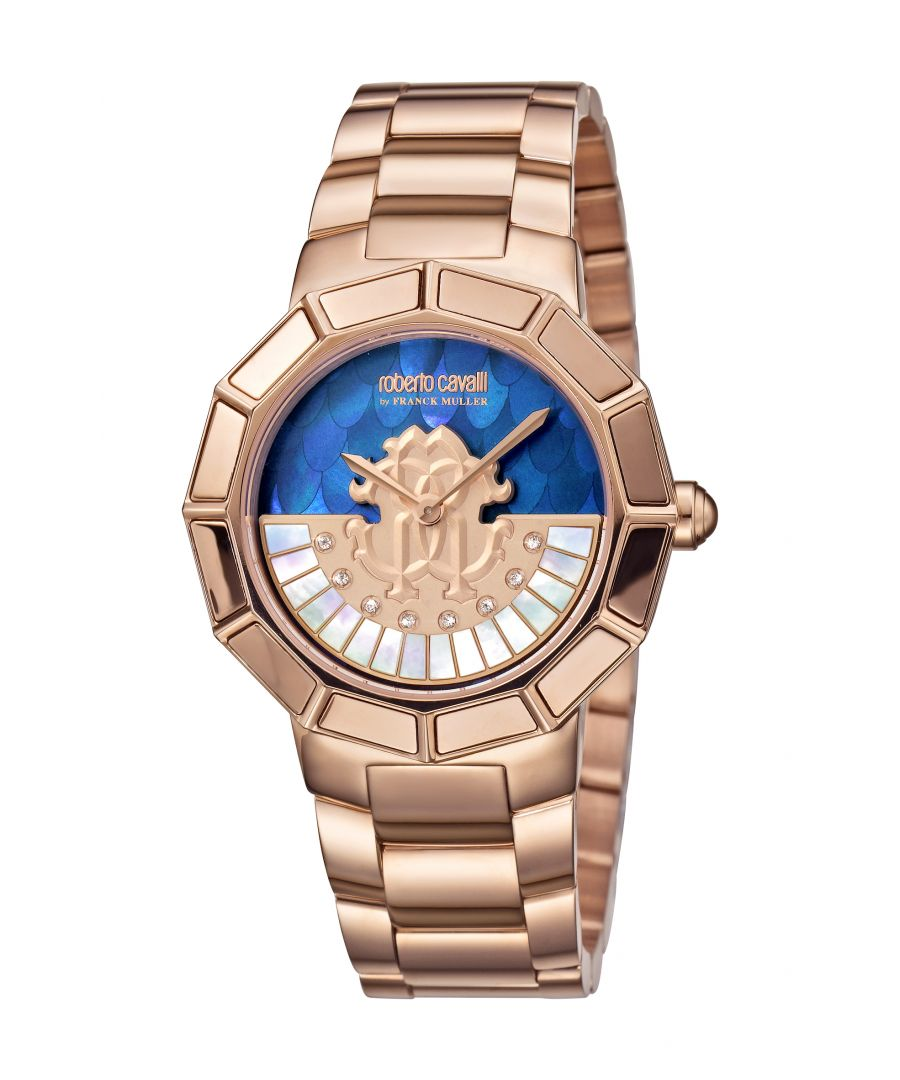 Image for Roberto Cavalli by Franck Muller Women's RC-11 Rose Goldtone Stainless Steel Mother-of-Pearl Bracelet Watch