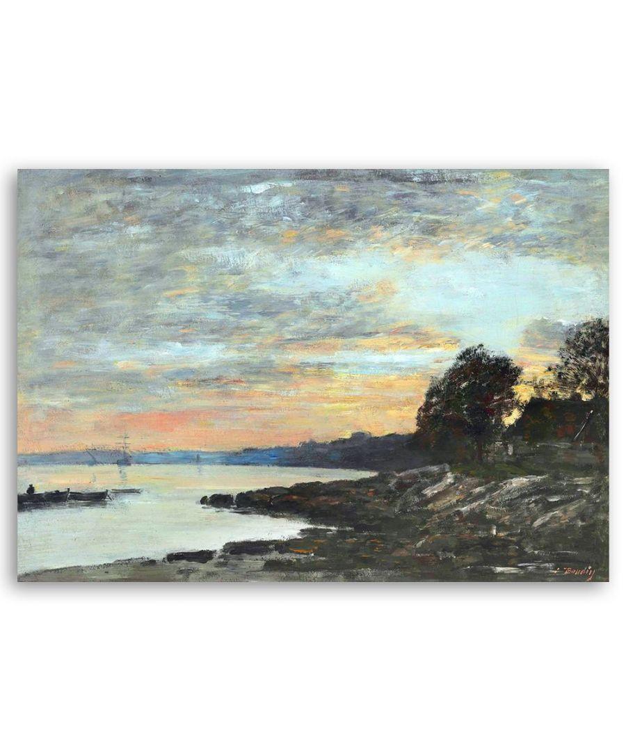Image for Canvas Print - Rade De Brest, Baie De Camfrout, Quai Des Kerhors - Eugène Boudin Cm. 50x80