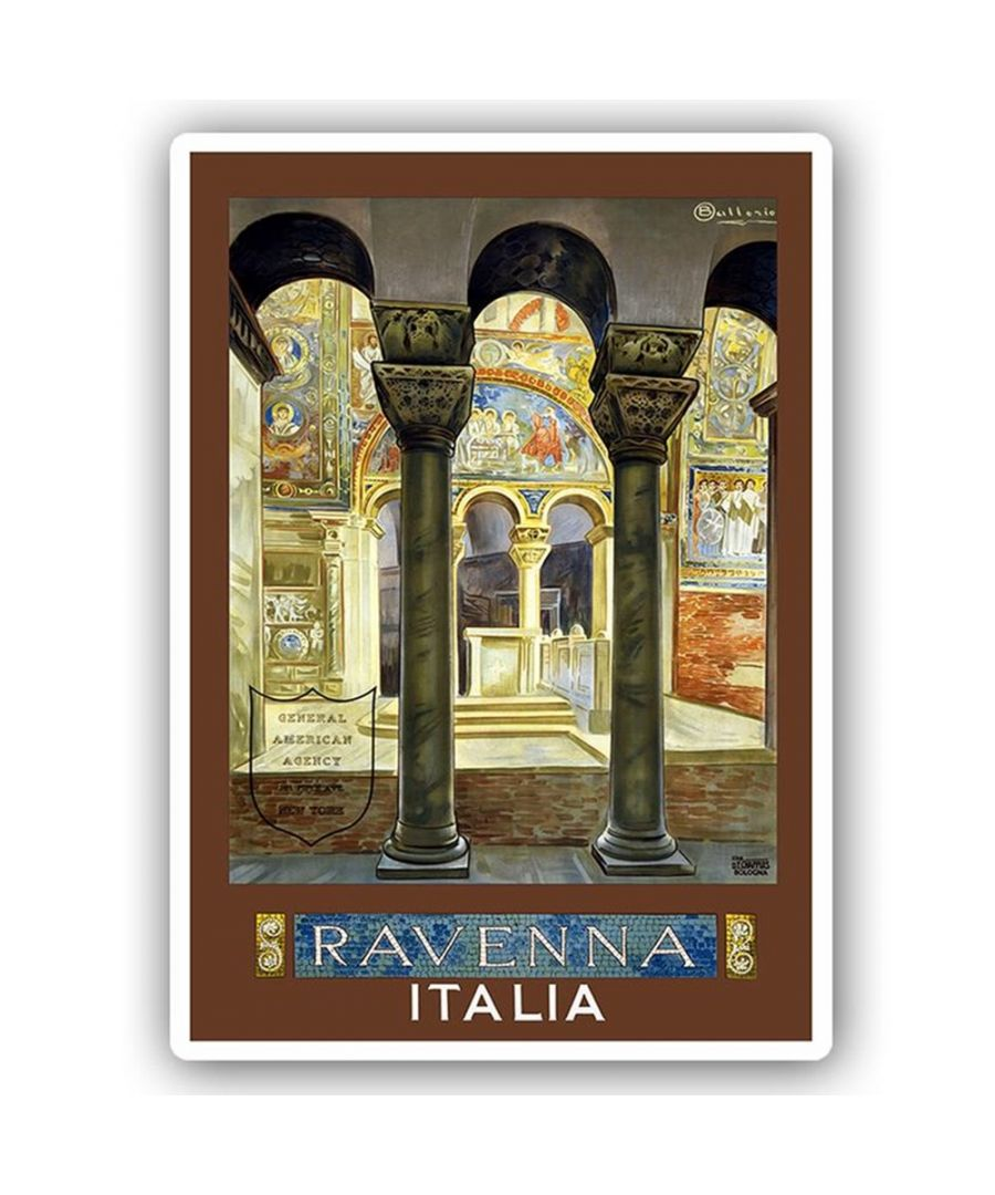Image for Vintage Tourist Poster - Metal Print  - Ravenna