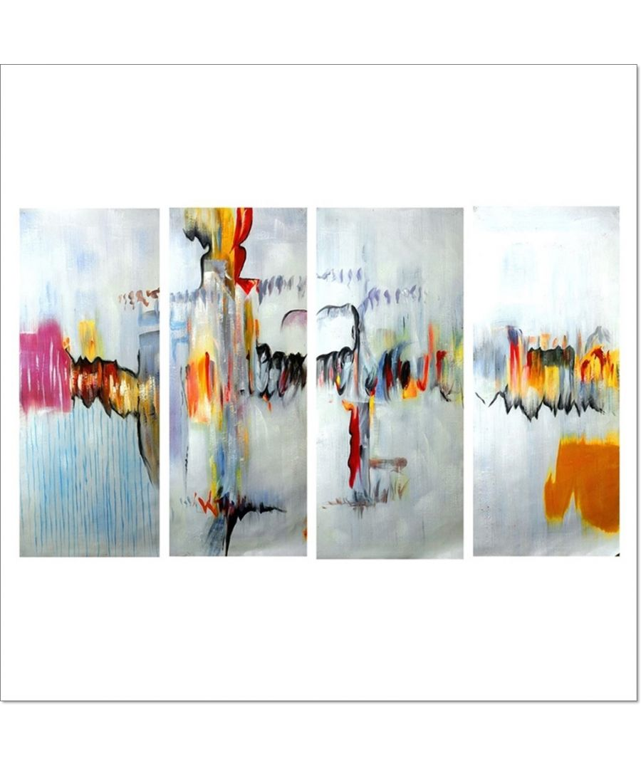 Image for Oil Painting - Reaction Of Colors Cm. 120x90 (4 Panels)