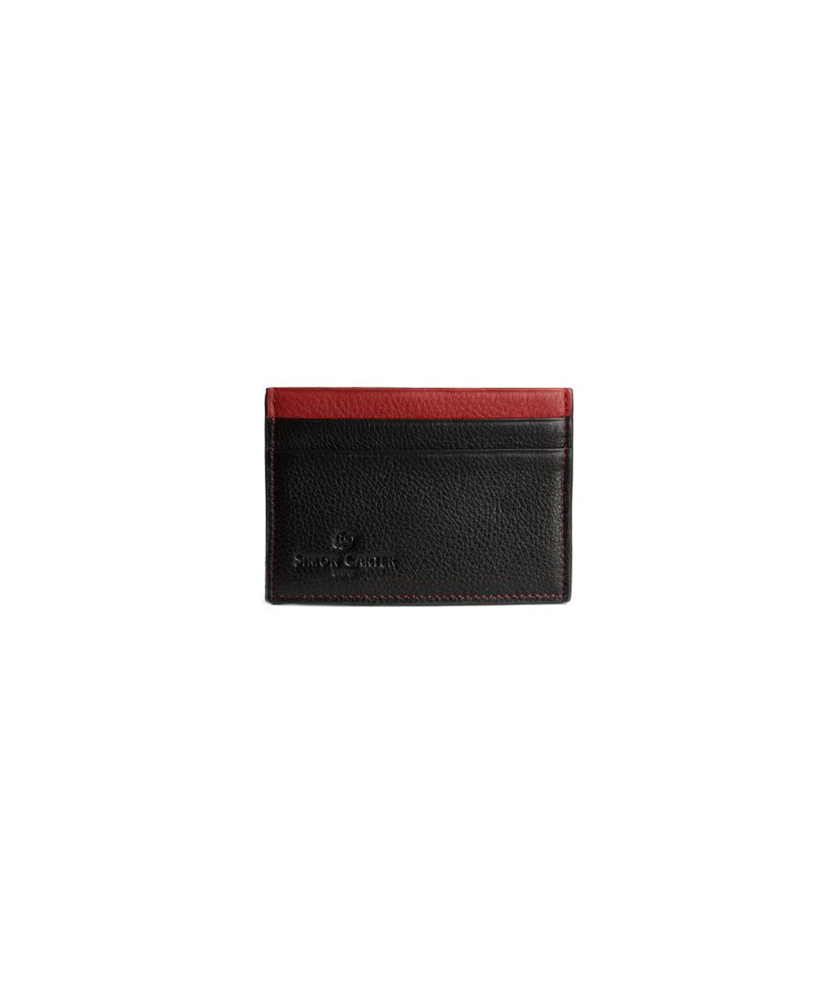 Image for Red Strip Leather Credit Card Holder