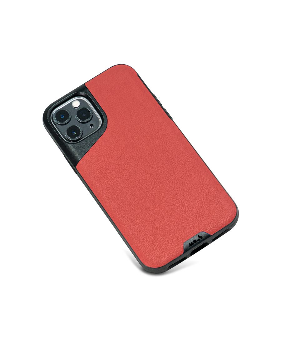 Image for Mous - Protective Case for iPhone 11 Pro - Contour - Red Leather - No Screen Protector