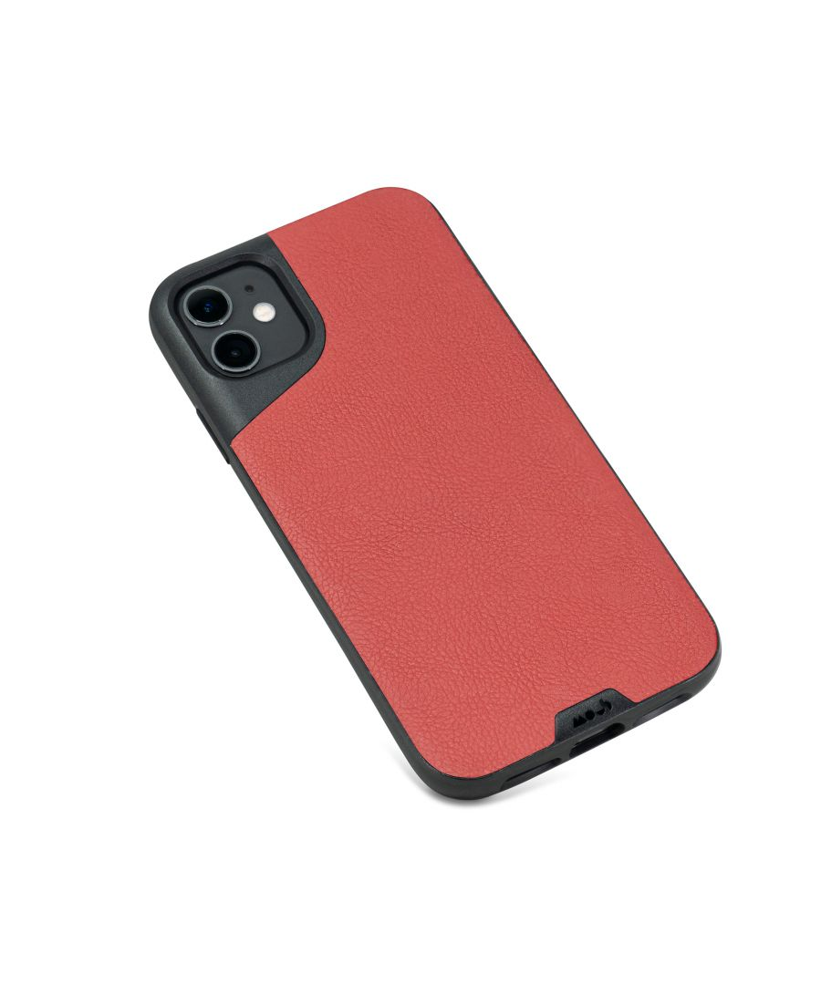 Image for Mous - Protective Case for iPhone 11 - Contour - Red Leather - No Screen Protector