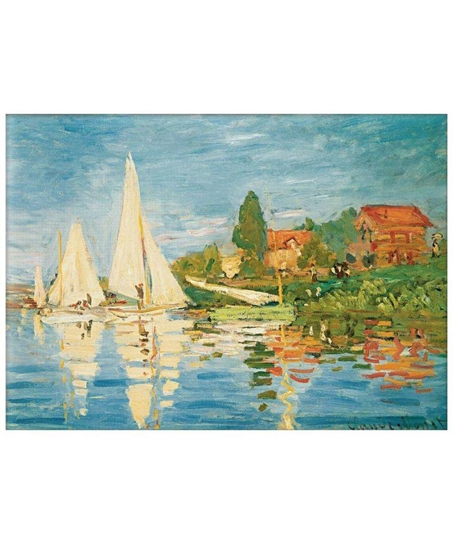 Image for Canvas Print - Boats At Argenteuil - Claude Monet Cm. 60x80