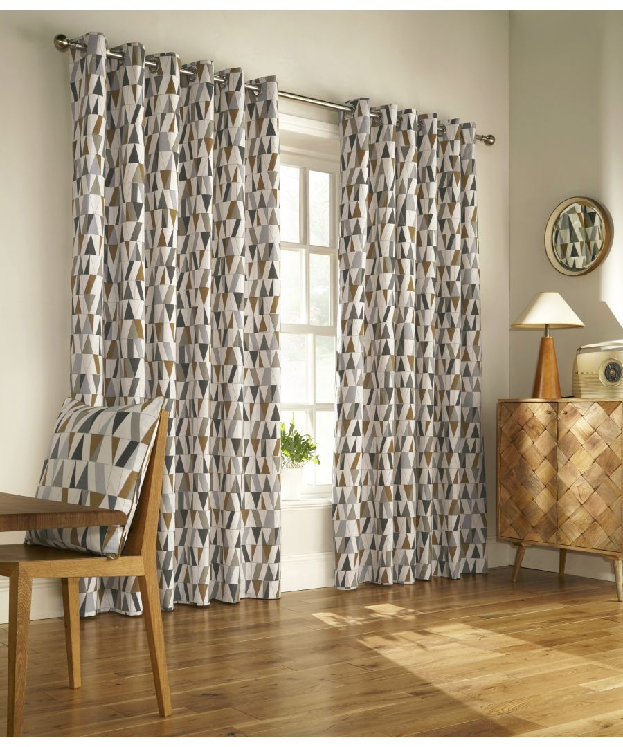 Image for Reno Curtains Cha/Gld