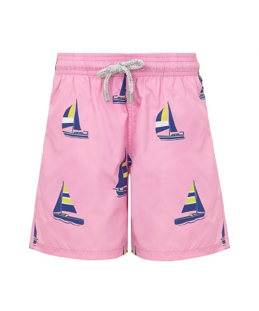 Image for Men's Pink Sailing Boat Swim Shorts