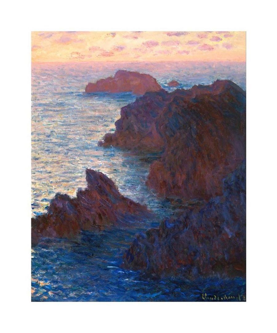 Image for Canvas Print - Rocks At Belle-Ile, Port-Domois - Claude Monet Cm. 80x100