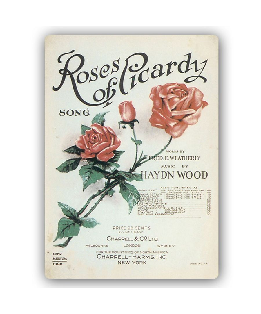 Image for Vintage Music Cover - Metal Print  - Roses Of Picardy