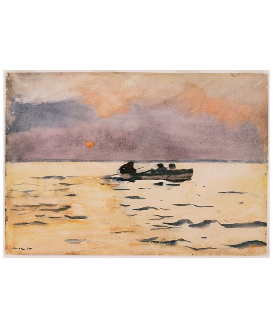 Image for Canvas Print - Rowing Home - Winslow Homer Cm. 50x70