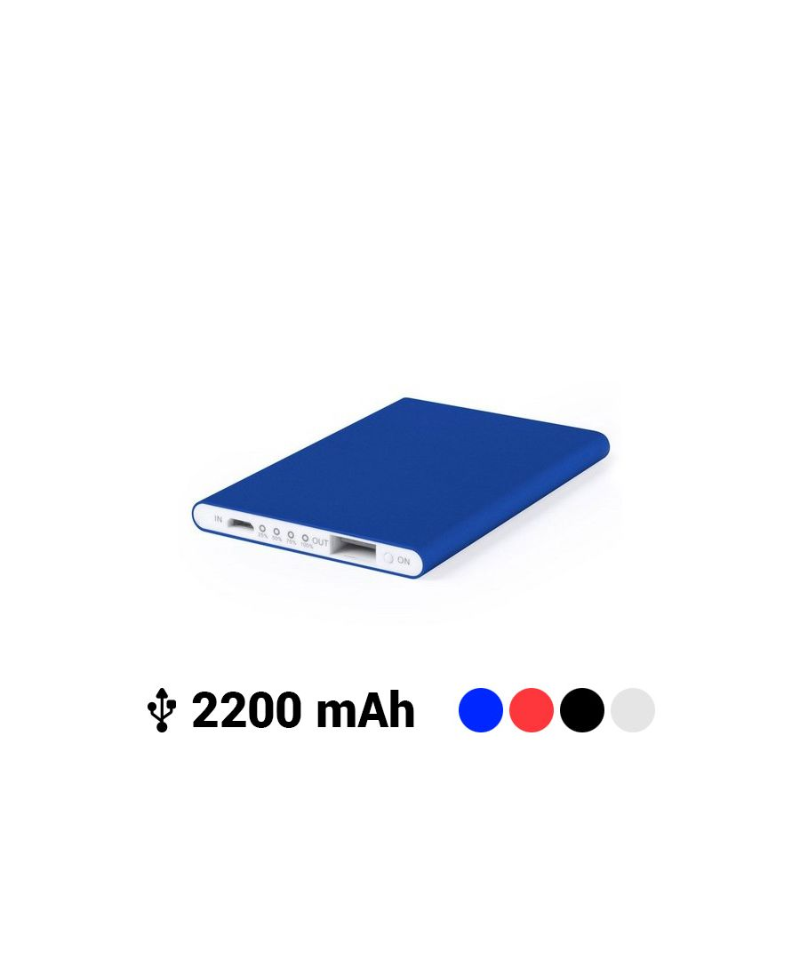 Image for Ultra-slim Power Bank with Micro USB 2200 mAh LED 145538