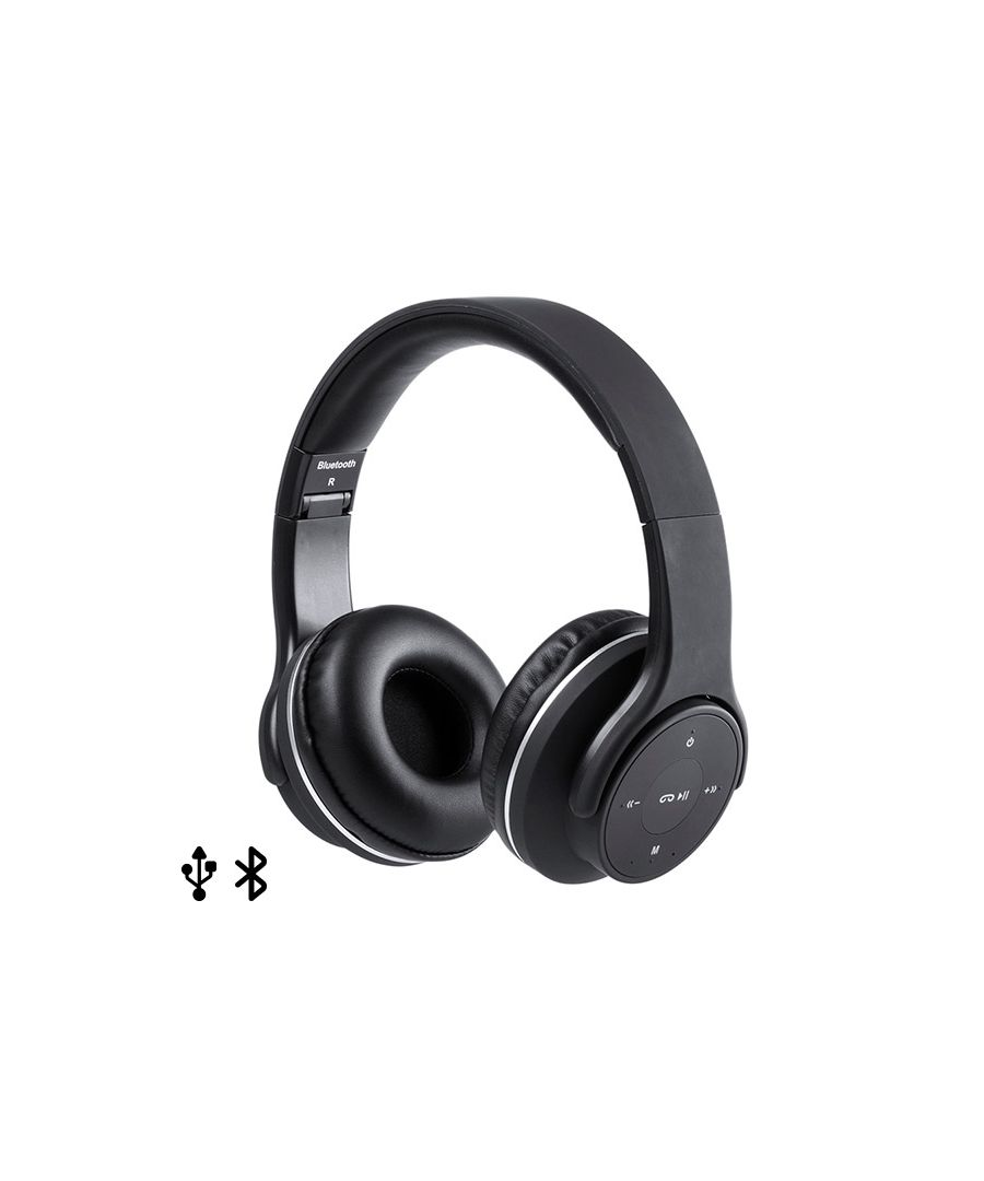 Image for Foldable Headphones with Bluetooth USB FM 6W Black 146131