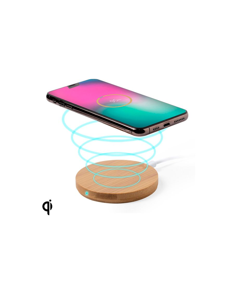 Image for Qi Wireless Charger for Smartphones 146522 (0,9 x Ø 9,1 cm) Bamboo